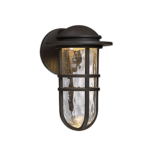 Steampunk Bronze One-Light LED Outdoor Wall Sconce