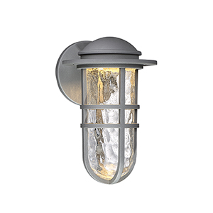 Steampunk Graphite One-Light LED Outdoor Wall Sconce