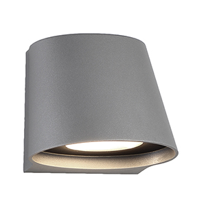 Mod Graphite LED Outdoor Wall Light with White Glass Diffuser