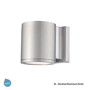 LED Outdoor Brushed Aluminum Outdoor Wall Sconce