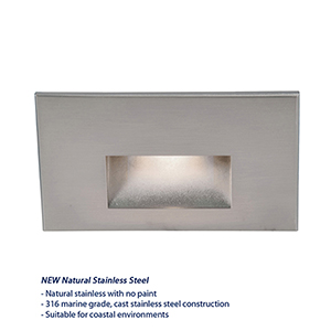 Stainless Steel Rectangular Scoop LED Wall Light and Step Light