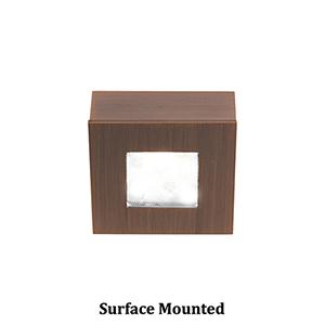 LEDme Button Lights Copper Bronze Small Under Cabinet Fixture