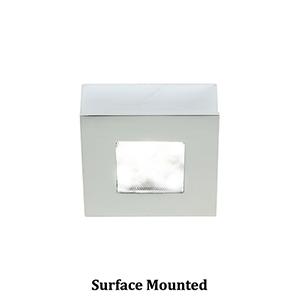LEDme Button Lights Chrome Small Under Cabinet Fixture