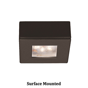 LEDme Button Lights Dark Bronze Small Under Cabinet Fixture