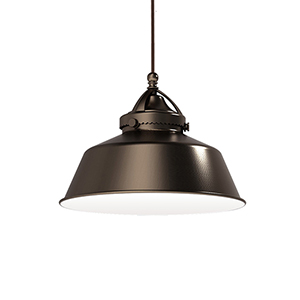 Wyandotte Dark Bronze Led Pendant with Canopy Mount Fixture