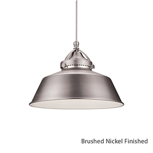 Wyandotte Brushed Nickel One Light LED Mini Pendant