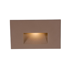 Bronze Step Rectangular Scoop LED Step Light