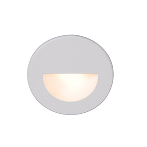 White Circular Scoop LED Step Light