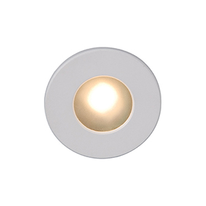White Circular Face LED Step Light