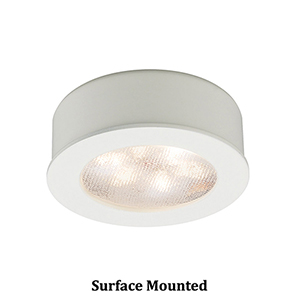 LEDme Round Button Lights White Under Cabinet Fixture