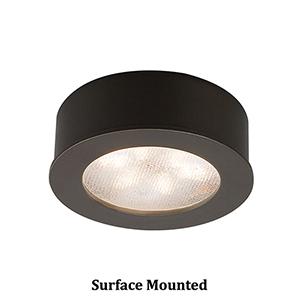 LEDme Button Lights Dark Bronze Under Cabinet Fixture