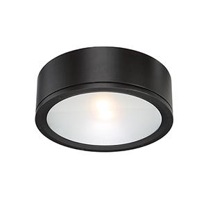 Tube Black One-Light LED Outdoor Flush Mount