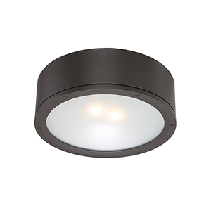 Tube Bronze One-Light LED Outdoor Flush Mount