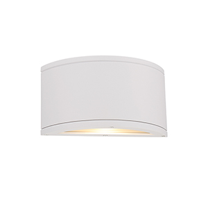 Tube White One-Light LED Outdoor Wall Sconce