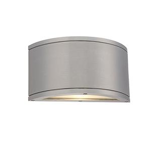 Tube Brushed Aluminum One-Light LED Outdoor Wall Sconce