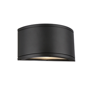 Tube Black One-Light LED Outdoor Wall Sconce
