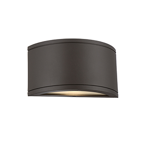 Tube Bronze One-Light LED Outdoor Wall Sconce