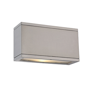 Rubix Brushed Aluminum Up and Down Light LED Outdoor Wall Sconce