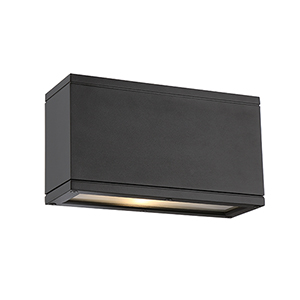 Rubix Black Up and Down Light LED Outdoor Wall Sconce