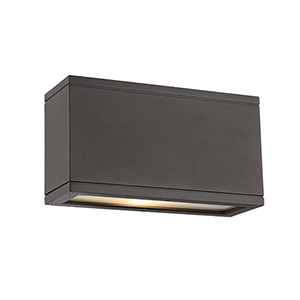Rubix Bronze Up and Down Light LED Outdoor Wall Sconce