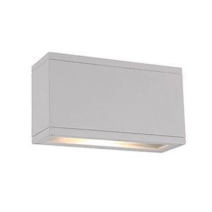 Rubix White Up and Down Light LED Outdoor Wall Sconce