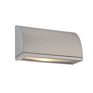Scoop Brushed Aluminum One-Light LED Outdoor Wall Sconce