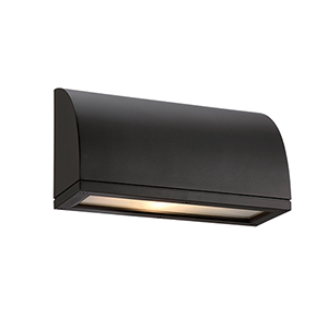 Scoop Black One-Light LED Outdoor Wall Sconce