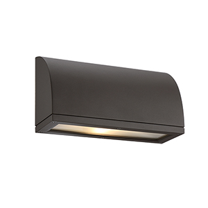 Scoop Bronze One-Light LED Outdoor Wall Sconce