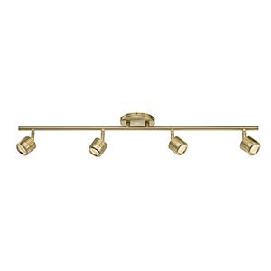 Vector Brushed Brass 4-Light LED Rail Kit