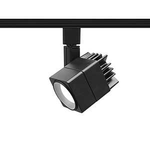 Summit Black One-Light LED Line Voltage Cube J-Track Head, 3000K