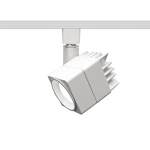 Summit White One-Light LED Line Voltage Cube J-Track Head, 3000K
