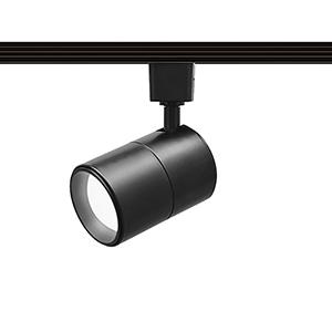 Summit Black One-Light LED Line Voltage Cylinder L-Track Head, 3000K