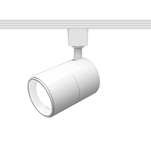Summit White One-Light LED Line Voltage Cylinder L-Track Head, 3000K