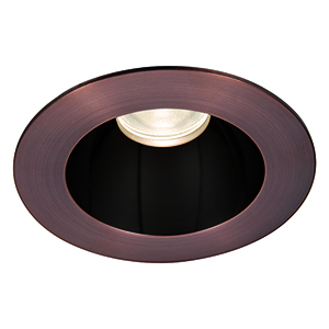 Tesla Specular Black and Copper Bronze 3.5-Inch Pro LED Trim with 55 Degree Beam, 2700K