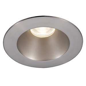 Tesla Brushed Nickel 3.5-Inch Pro LED Shower Light Trim with 30 Degree Beam, 2700K, 90 CRI