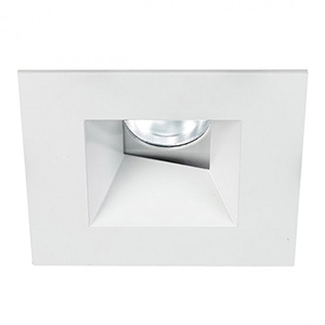 Tesla White 3.5-Inch Pro LED Square 0-30 Degree Adjustable Trim with 52 Degree Beam, 2700K, 90 CRI