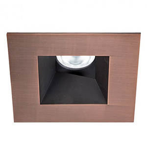 Tesla Copper Bronze 3.5-Inch Pro LED Square 0-30 Degree Adjustable Trim with 52 Degree Beam, 3000K, 90 CRI