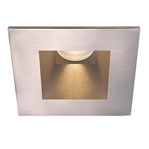 Tesla Brushed Nickel 3.5-Inch Pro LED Square Shower Light Trim with 30 Degree Beam, 2700K