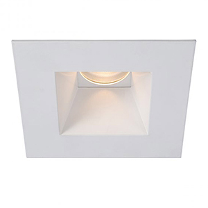 Tesla White 3.5-Inch Pro LED Square Shower Light Trim with 30 Degree Beam, 3000K