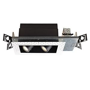 Precision Multiples 1x2-Light LED Housing, Dimming Spot Beam, 2700K, 90 CRI