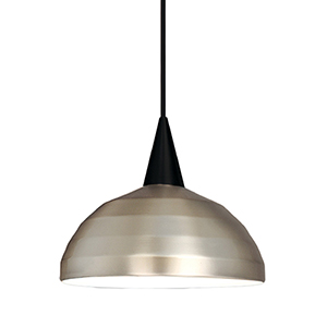 Felis Black Energy Star LED Mini Pendant with Brushed Nickel Metal