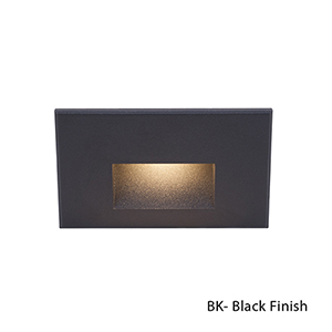 LEDme Black LED 277V Horizontal Step and Wall Light