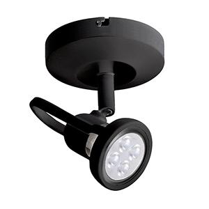 Spot 826 Black Line Voltage LED Spot Light with Clear Glass Lens