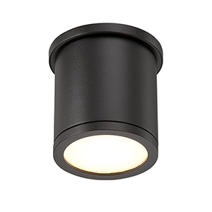 Tube Black 5-Inch Energy Star LED Flush Mount with White Diffuser Glass