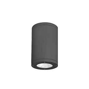 Tube Architectural  Black 7-Inch LED Outdoor Flush Mount with 2700K Narrow Beam