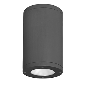 Tube Architectural  Black 11.75-Inch LED Outdoor Flush Mount with 3000K Narrow Beam 90 CRI