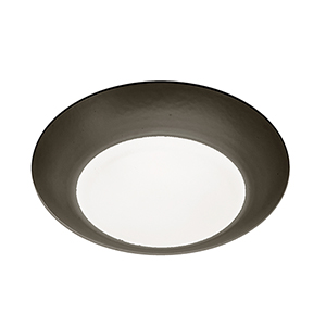 Disc Bronze 4-Inch Energy Star LED Flush Mount with 3000K Soft White