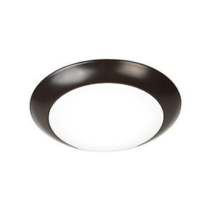 Disc Bronze 6-Inch 3000K LED ADA Outdoor Flush Mount