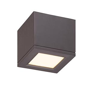 Rubix Bronze 5-Inch Energy Star LED Flush Mount with White Diffuser Glass