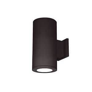 Tube Architectural 5-Inch LED Double Wall Light Shines Up and Down 3000K 90 CRI in Bronze